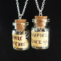 Vampire Defence Bottle Necklace