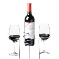 Wine Sticks Glass and Bottle Holder, 3 Piece Set
