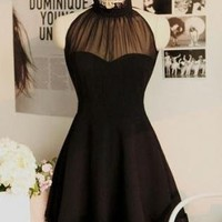 Beautiful Vintage Inspire Halter Dress