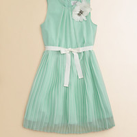Blush by Us Angels - Girl&#x27;s Pleated Chiffon Dress