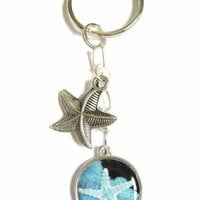Starfish Sea Star Charms Ocean Beach Theme Key Chain or Zipper Pull