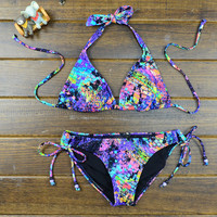 Sexy Rainbow Gradient Bikini
