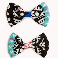 Tribal-Inspired Bow Hair Clip Set