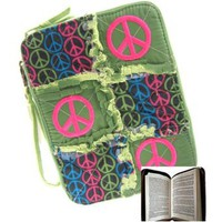Amazon.com: Peace Sign Ragged Patchwork Bible Cover Case (green): Clothing