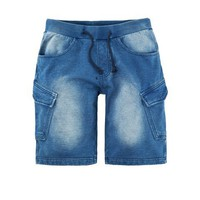 mens blue sick cotton denim shorts pants