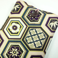 "11"" Macbook Air Case, Fabric Macbook Covers, Gift For Her, Japanese Kimono Cotton Fabric Hexagon Pattern Light Pink"