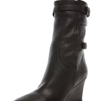 Lanvin | Wedge Bootie in Black www.FORWARDbyelysewalker.com