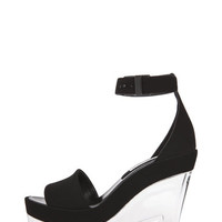 Stella McCartney | Lucite Platform Sandal in Black www.FORWARDbyelysewalker.com