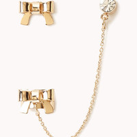 Bow Stud &amp; Earcuff