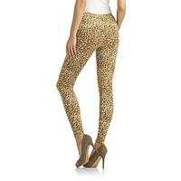 Kardashian Kollection- -Women's Knit Leggings - Leopard Print-Clothing-Women's-Leggings