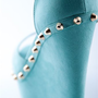 Get the Party Started Studded Peep Toe Wedges - Mint from Evening & Club at Lucky 21 Lucky 21