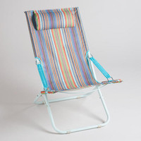 Multicolor Stripe Beach Chair