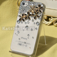 flowers crystal iphone 4s cases,bling bling iphone 5 case, handmade iphone 4 cases iphone cover cases