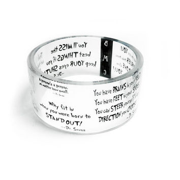 Dr Seuss Inspired Resin Bangle Chunky Bangle by BuyMyCrap on Etsy