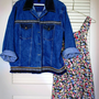 80s hipster ethnic denim oversized jacket