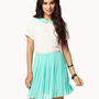 Contrast Pleated Chiffon Dress | FOREVER 21 - 2025100458