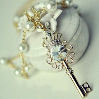 crowne key necklace