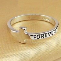 YOLANDA  Cross Forever Ring