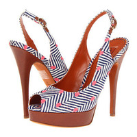 Missoni Dotted Herringbone Sling Back Peep Toe