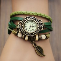 Buy Handmade Vintage Leaf  Wrap Watch on Shoply.