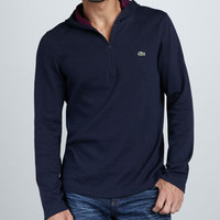 Double-Face Zip Hoodie, Navy