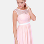 Heir to the Throne Lace Blush Pink Dress