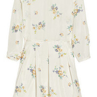 Band of Outsiders|Floral-print silk-habotai dress|NET-A-PORTER.COM