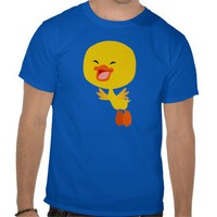 Cute Flying Cartoon Duckling T-Shirt by Cheerful Madness at Zazzle