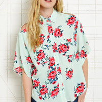 Pins &amp; Needles Floral Cold Shoulder Top at Urban Outfitters