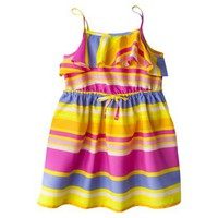 Cherokee Infant Toddler Girls&#x27; Sleeveless Ruffle Top Dress - Multicolor