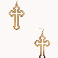 Cutout Cross Earrings | FOREVER 21 - 1057803616