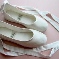 Ecochic Handmade Vegan Bridal Ballet Flats 902C by TheGeneration