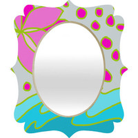 DENY Designs Home Accessories | Paula Ogier Lotus Pond Quatrefoil Mirror