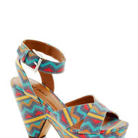 Chevron Your Way Heel | Mod Retro Vintage Heels | ModCloth.com