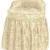 Delmar Swivel Vanity Stool w/Skirt - Vanity Stools - Bedroom Furniture - Furniture | HomeDecorators.com