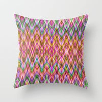Missoni Style Throw Pillow by Glanoramay