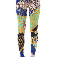 See You Monday Leggings Vintage Scarf in Multi
