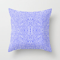 Radiate (Periwinkle) Throw Pillow by Jacqueline Maldonado