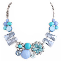 Blue Emma Necklace – Modeets.com