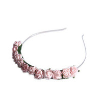 Crown and Glory Hair Accessories  Not a Lotta Rosie Headband - Blush Pink