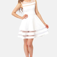 Final Stretch Ivory Dress