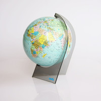 Great vintage 70s globe on a plastic base