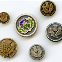 Thistle buttons vintage and modern buttons
