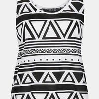 Topshop &#x27;Mono Aztec&#x27; Tank (Petite) | Nordstrom