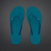 Pop Color Flip Flops