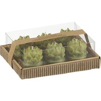 Set of 6 Artichoke Candles