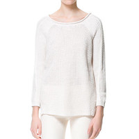 SWEATER WITH SIDE SLITS - Woman - New this week - ZARA United States