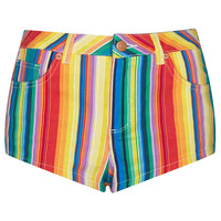 MOTO Bright Stripe Hotpant - Shorts - Clothing - Topshop USA