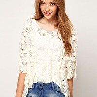 ASOS Crochet Tee at asos.com