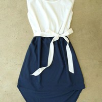 Navy La Sallee Colorblock Dress [2554] - $28.00 : Vintage Inspired Clothing & Affordable Summer Frocks, deloom | Modern. Vintage. Crafted.